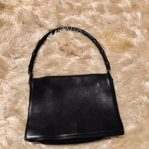 Gucci leather purse with bamboo handle